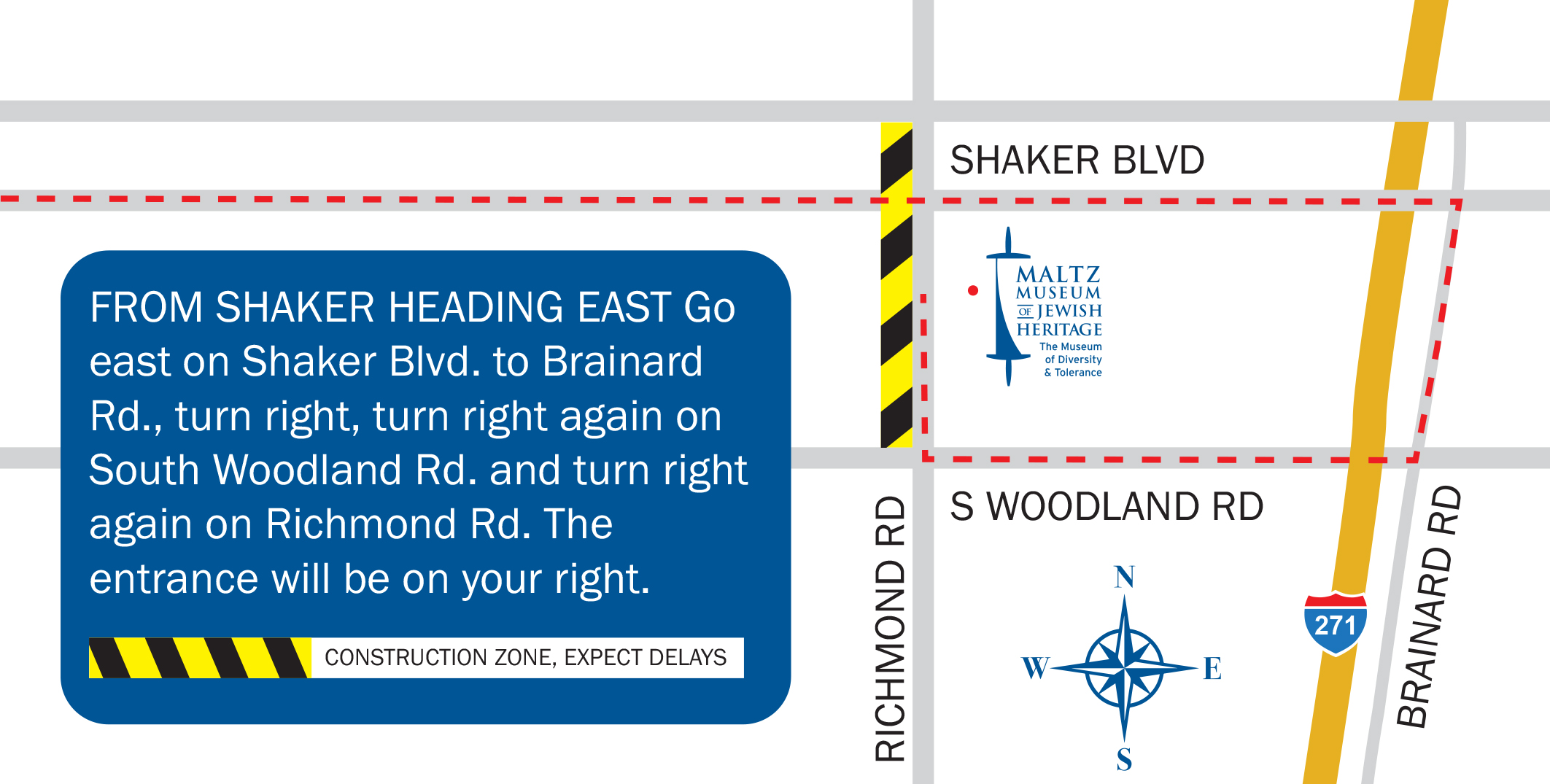 Access from Shaker East