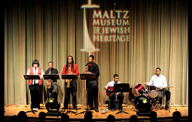 East Cleveland Heritage Middle School Jazz ensemble performed at the awards ceremony