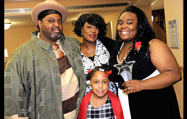 Grand Prize Winner Gabrielle Jones and her family